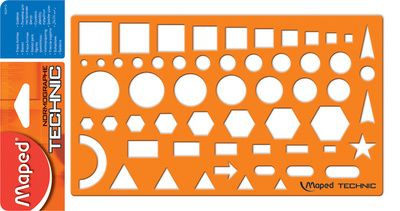 Maped Gabarit NORMOGRAPHE TECHNIC, orange