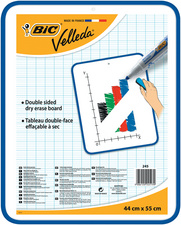 BIC Tableau blanc Velleda, 2 faces, dimensions: 440 x 550 mm