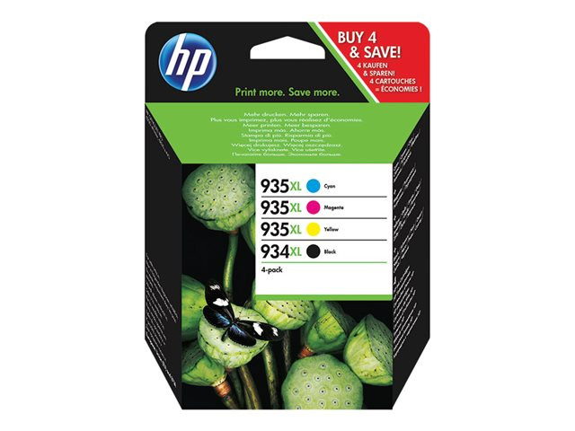 HP : 934XL Cartouche Encre 4-pack HIGH YIELD C/M/Y/K