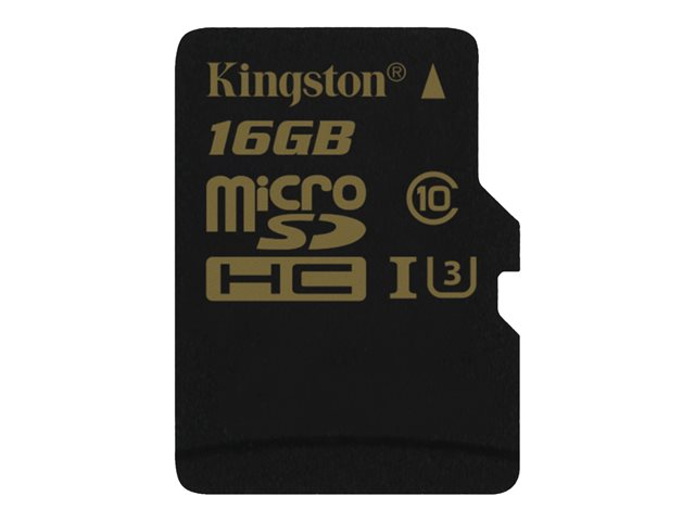 Kingston : 16GB MICROSDHC CLASS U3 UHS-I 90R/45W SINGLE pack W/O ADAPTER