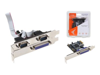I-Tec : PCIE card 2X SERIAL RS232 + 1X PARALLEL DB25