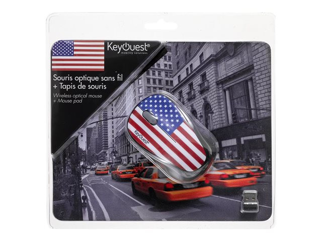 KeyOuest : WIRELESS MOUSE SET + MOUSE PAD USA