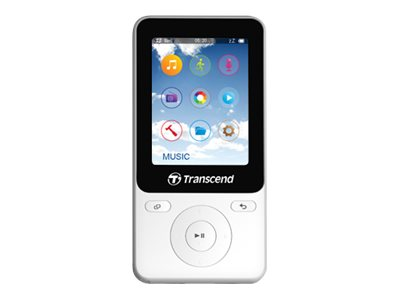Transcend : MP710 8GB FITNESS MODE WHITE 2IN FULL COLOR TFT SCREEN