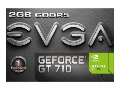 eVGA : GF GT 710 2GB GDDR5 LOW PROFILE SINGLE SLOT