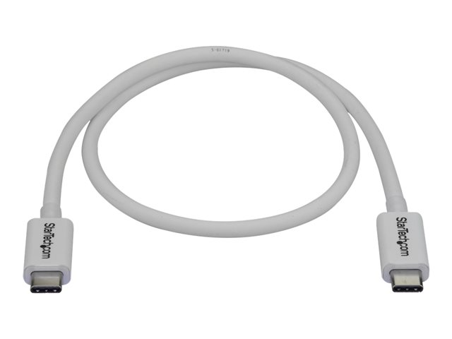 Startech : 0.5M THUNDERBOLT 3 USB C cable 40GBPS - WHITE