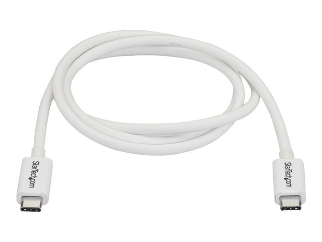 Startech : 1M THUNDERBOLT 3 USB C cable 20GBPS - WHITE