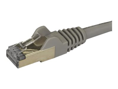 Startech : 0.5M CAT6A PATCH cable - GRAY CAT 6A NETWORK cable - STP