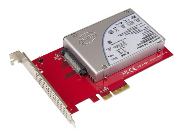 Startech : NVME PCIE ADAPTER - 2.5IN U.2 SSD SFF-8639 - X4 PCIE 3.0