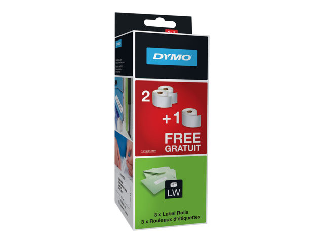 Dymo : DYMo ETIQ EXPED/BADGE 54X101MM 2 + 1 GRATUIT