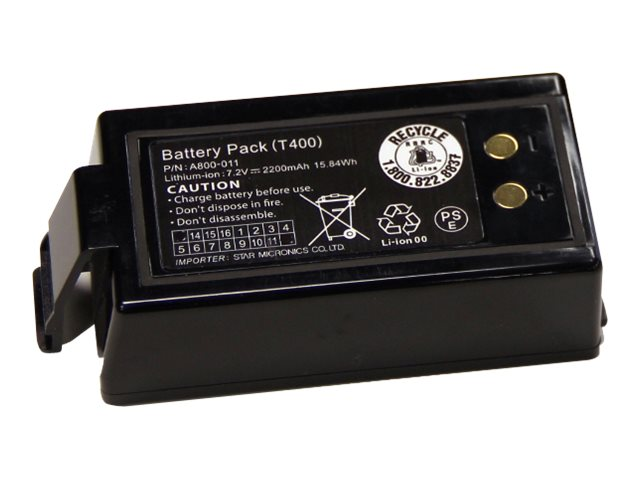 Star : BATTERY pack T4I MOBILE MOBILE printer ACCESSORIES