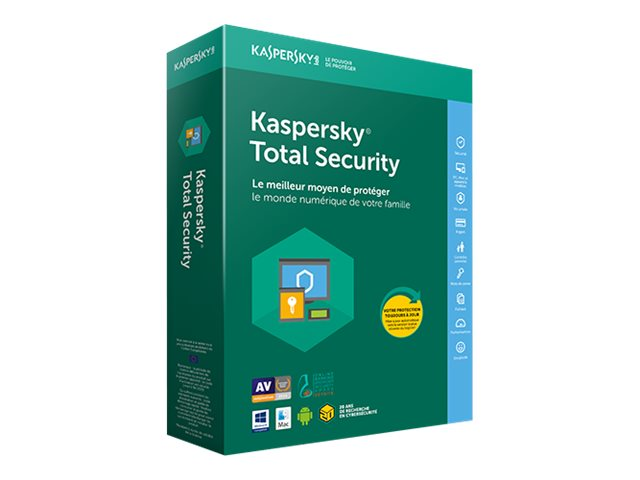 Kaspersky : KASPERSKY TOTAL SECURITY 2018 5U 1Y