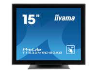 Iiyama : 15IN LED TOUCH 1024X768 4:3 T1532MSC-B3AG 700:1 8MS BLACK