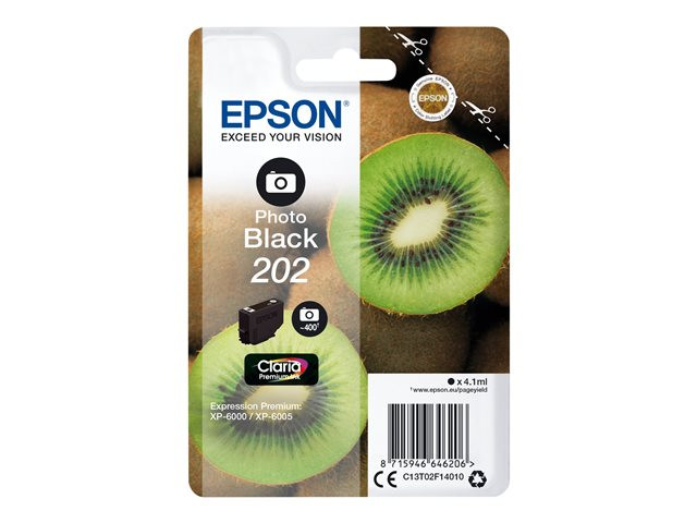Epson : SINGLEpack Photo BLACK 202 CLARIA PREMIUM INK