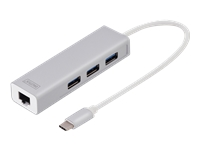 Assmann : 3 PORT USB 3.0 TYPE C HUB GIGABIT ETHERNET RJ45 WIN/MAC OS