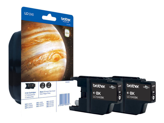 Brother : LC-1240BK BLACK INK BLISTER CONTAINS 2 X BK