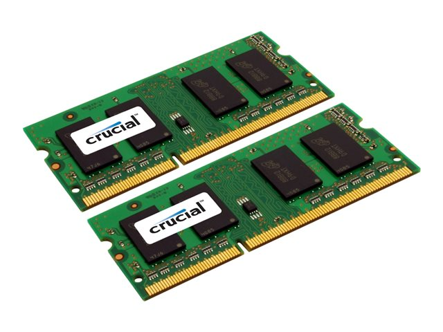 Crucial : 8GB kit (4GBX2) DDR3 1600 MT/S PC3-12800 CL11 SODIMM 204PIN SR
