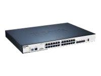 D-Link : SWITCH GBIT POE 24-PORT 10/100/ LAYER 2