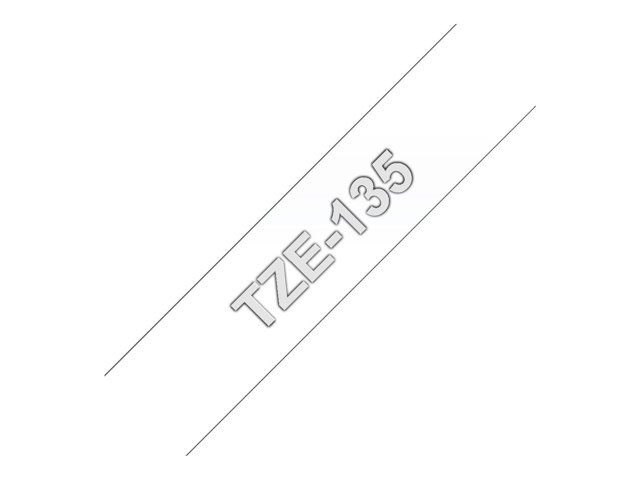Brother : TZE-135 LAMINATED tape 12MM 8M WHITE ON CLEAR