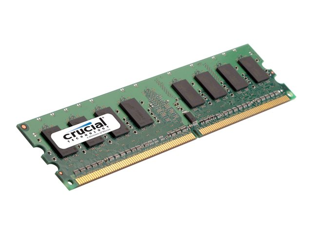 Crucial : 2GB DDR2 800MHZ PC2-6400 CL6 UNBUFFERED UDIMM 240PIN