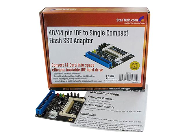 Startech : 40/44 PIN IDE TO COMPACT FLASH SSD ADAPTER