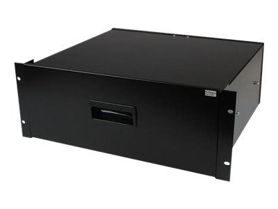 Startech : 4U BLACK STEEL STORAGE DRAWER F/19IN RACKS et CABINETS (8.70kg)