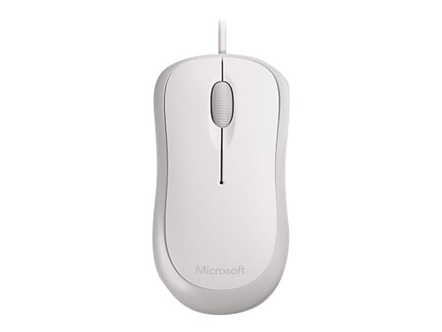 Microsoft : BASIC OPTICAL MOUSE OEM WHITE 1 pack pour business USB PS2