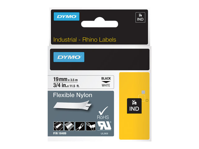 Dymo : ID1-19-1300 FLEXIBLE NYLON WH.