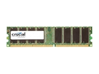 Crucial : 512Mo DDR 400MHZ PC3200 CL3 UNBUFFERED UDIMM 184PIN