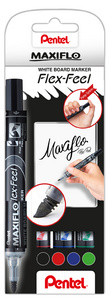 Pentel Whiteboardmarker Maxiflo Flex-Feel, 4er Set MWL5SBF-4