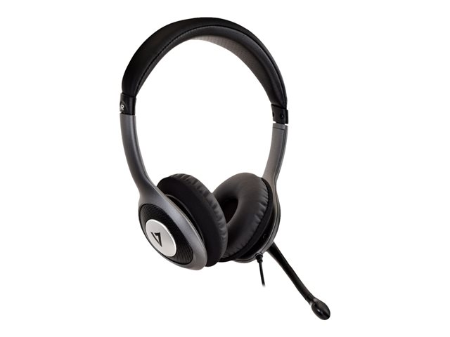 V7 : DELUXE USB HEADSET W/MIC ON cable CONTROL 1.8M cable