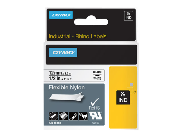 Dymo : ID1-12-1300 FLEXIBLE NYLON WH.