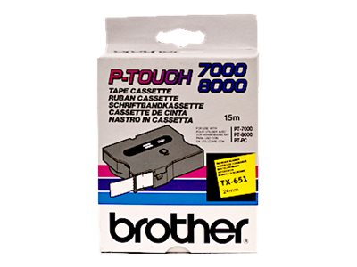 Brother : PTOUCH 24MM YELLOW BLACK .