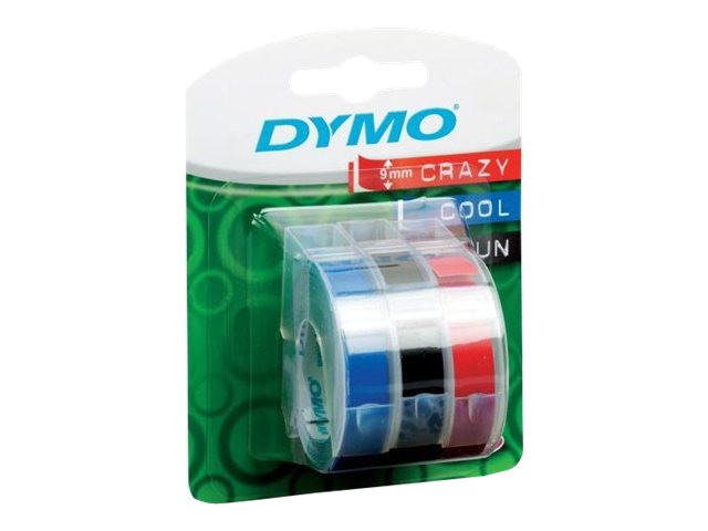 Dymo : CONS. EMB. 9MMX3M ASSORTED BL3