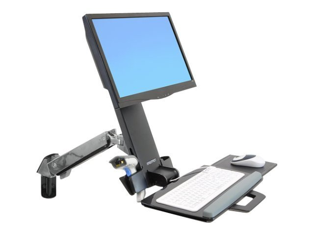Ergotron : SV SIT STAND COMBO ARM NO WORKSURFACE POLISHED