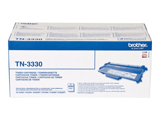 Brother : TN-3330 kit TONER 3000 PG pour HL5440D/5450DN/5470DW
