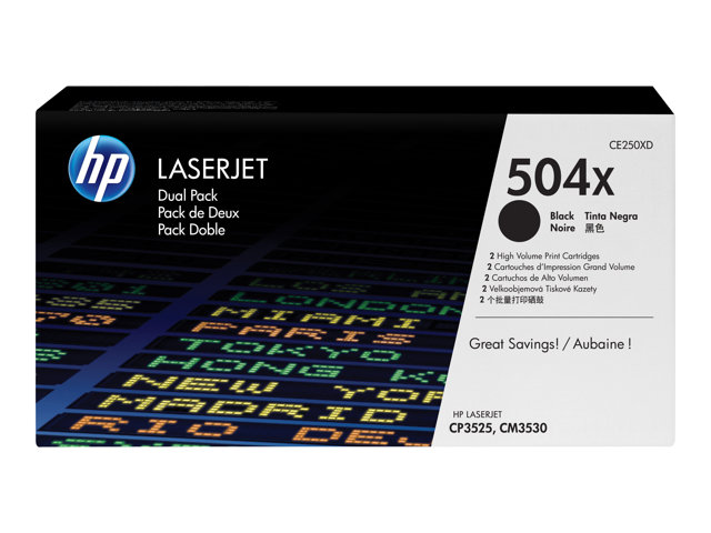 HP : TONER cartridge 504X BLACK DUAL pack LaserJet
