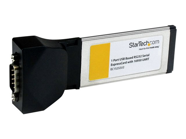 Startech : 1 PORT EXPRESSCARD TO RS232 DB9 SERIAL ADAPTER card W/ 16950