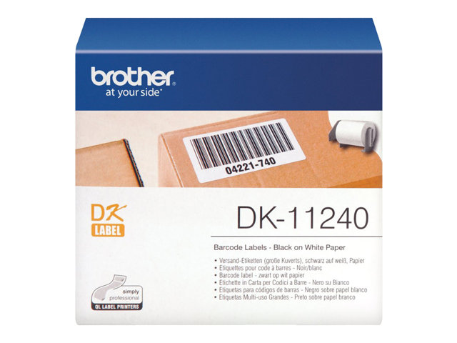Brother : ETIQUETTES pour CODE BARRE 102 X 51 MM