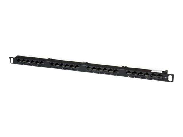Startech : 24PORT HALF U / 0.5U RACK MOUNT AT5E NETWORK PATCH PANEL