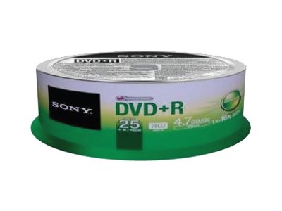 Sony : DVD+R 16X SPINDLE-bulk 25 PCS .