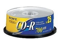 Sony : CD-R 48X 700Mo SPINDLE 25PCS 1M HORIZONTAL FLAT HDMICABLE
