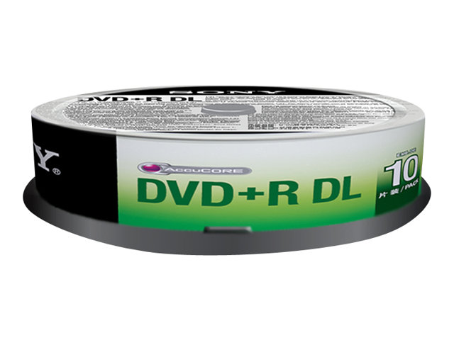 Sony : DVD+R D.LAYER SPINDLE 10PCS .