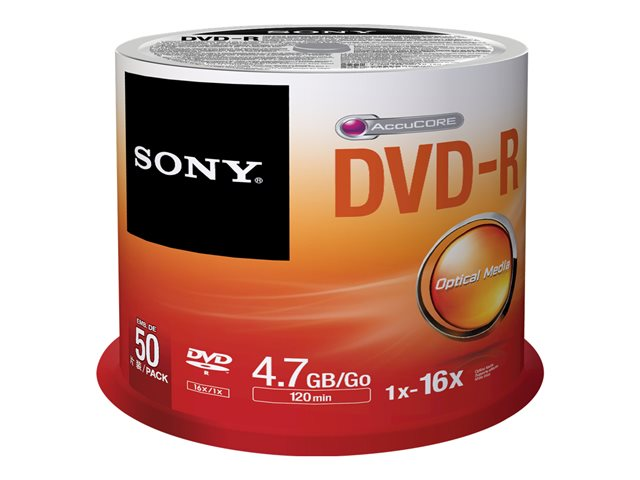 Sony : DVD-R 16X SPINDLE 50 PCS .