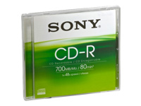 Sony : CD-R 48X 700Mo JEWEL CASE .