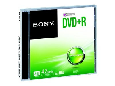 Sony : DVD+R 16X JEWEL CASE .