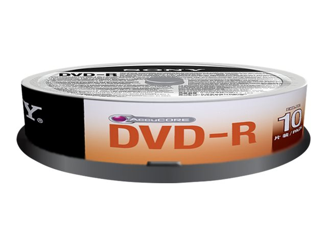 Sony : DVD-R 16X SPINDLE 100 PCS .