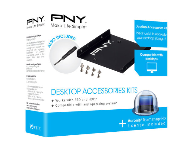 PNY : DESKTOP upgrade kit 2.5 SSD HDD SATAIII data cable MINI DVD ACRONIS
