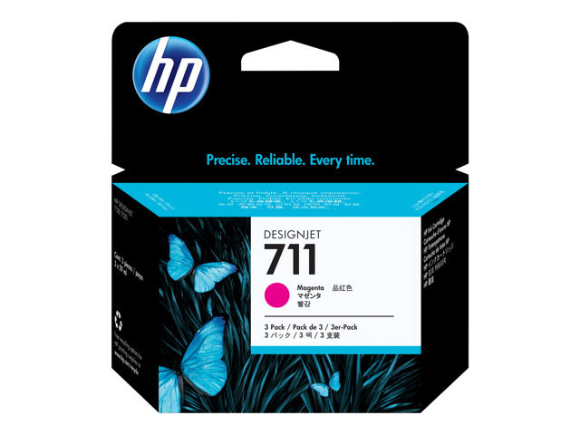 HP : cartouche encre No 711 MAGENTA 3 pack 29 ML