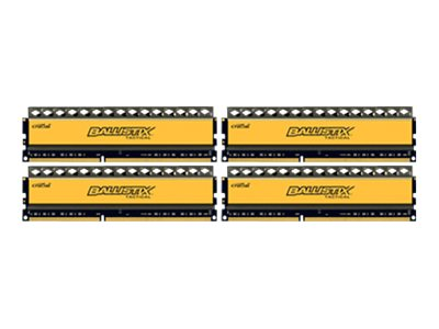 Crucial : 16GB kit (4GBX4) DDR3 1600 MT/S CL8 1.5V BALLISTIX TACTICAL UDIMM