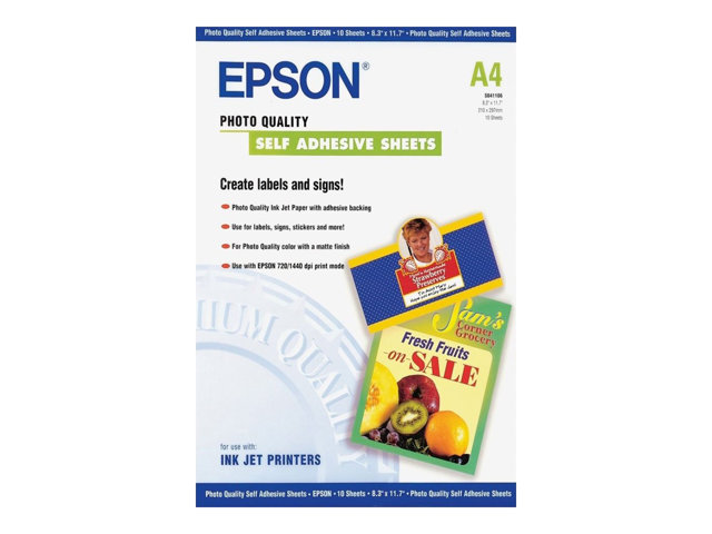Epson : INKJET Photo papier S.A. A4 10CT